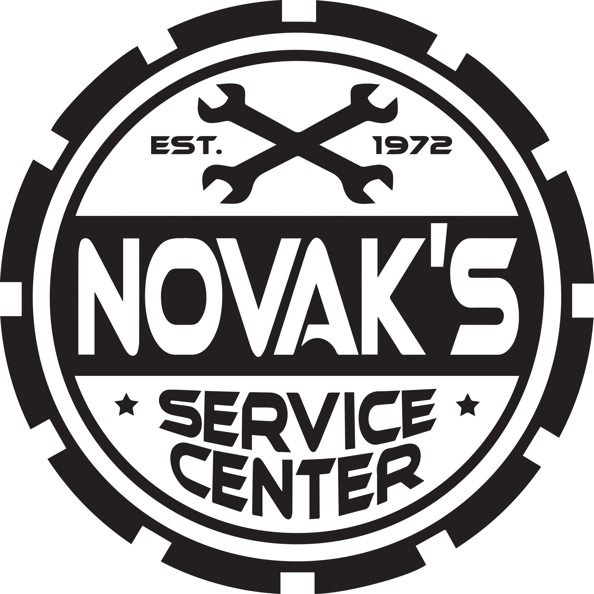 2-10-15 Novak's Service Center Black and White Logo.jpg