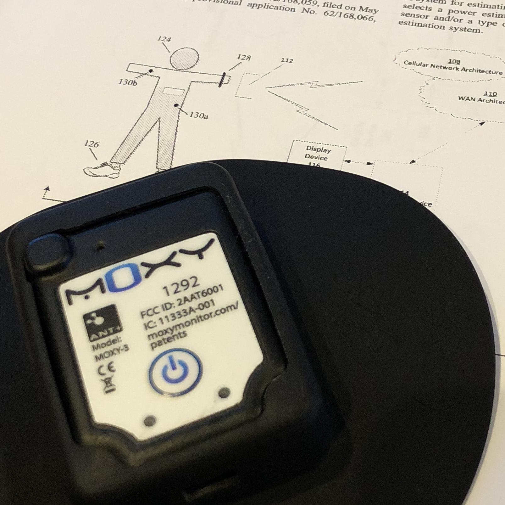 Moxy Muscle Oxygen Sensor in the light guard.