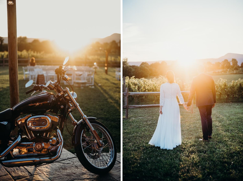 081_sunset_photographer_motorcycle_vineyards_virginia_faithbrooke_shenandoah_barn_sunnset_luray_wedding.jpg