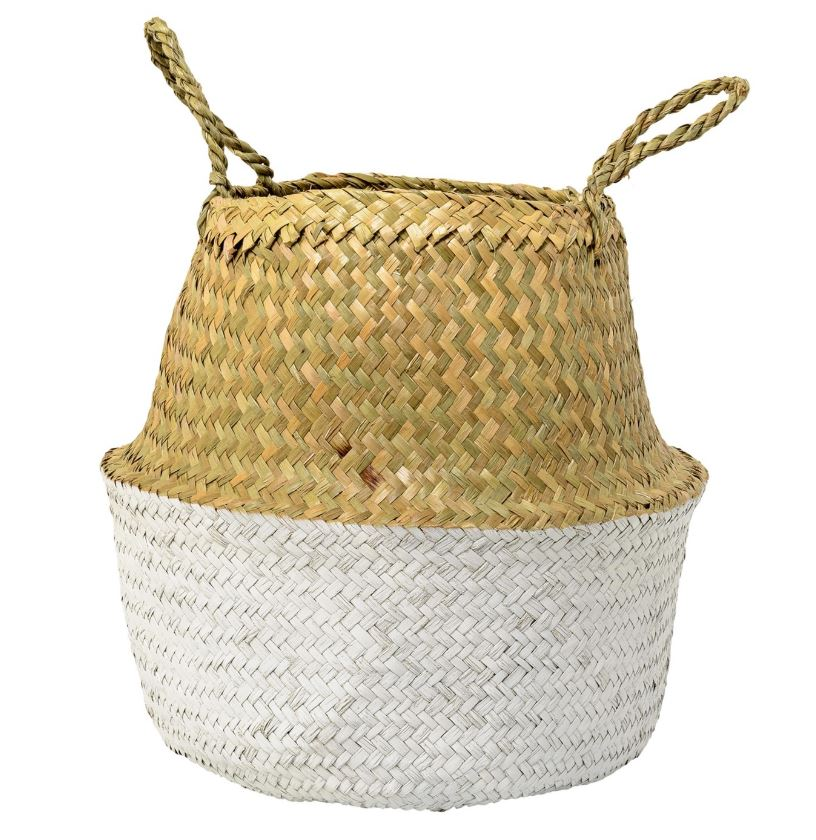 target seagrass tall basket white and tan.JPG