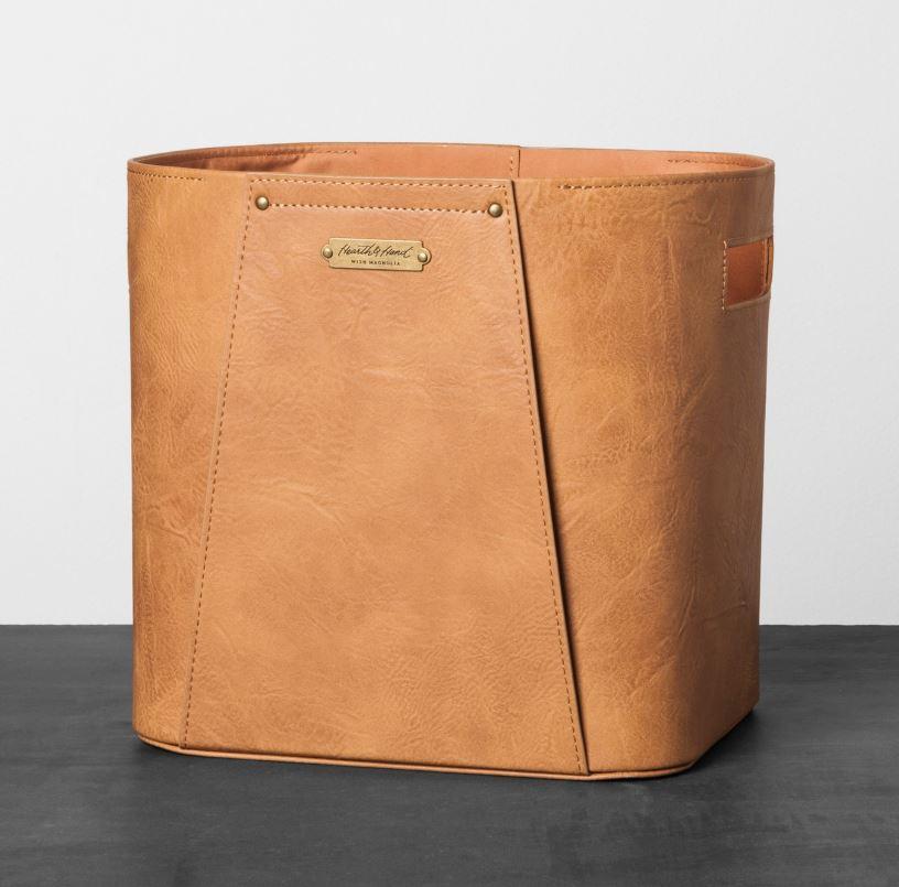 target smaller leather bin.JPG