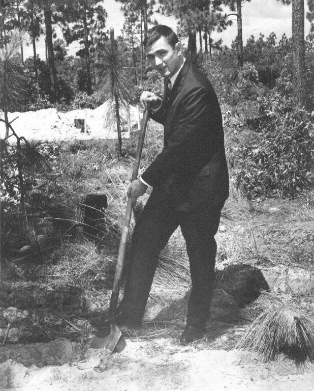 Rev. Joyner breaking the first ground, June 11, 1961