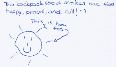 A note from one of the backpack recipients