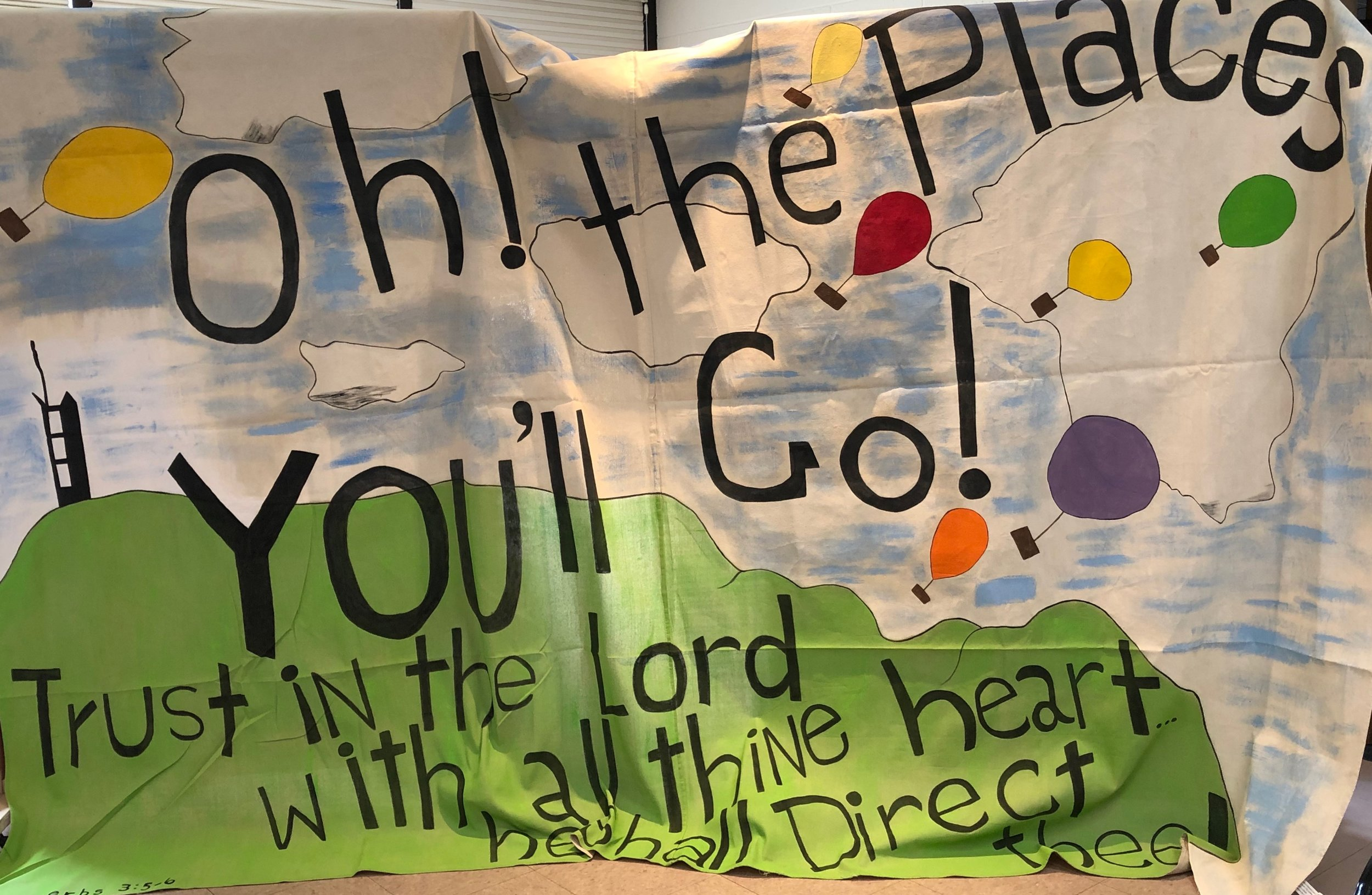 This wonderful banner greeted the recent Wee Care kindergarten graduates on May 22, 2019.