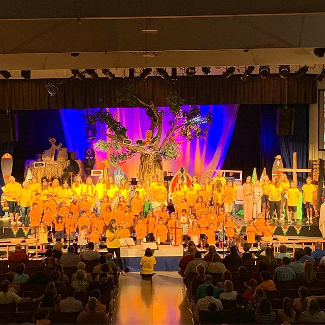 Vacation Bible School celebration with some of the 280 participants and some of the 120 adult and youth volunteers!  #godisgood #pinevalleyumc #wilmingtonnc