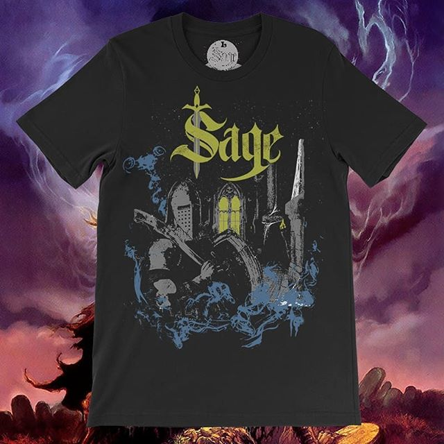 Save $5 by pre-ordering our new shirt designed by heavy metal artist @brouemastervisualdecay  Pre-orders will last for a week and then the prices will go back to normal.  #sagescreenprinting #heavymetal #deathknight #sage #fantasy #fantasyart #metal #metalhead #wizardsofprint #🧙♂️🤘