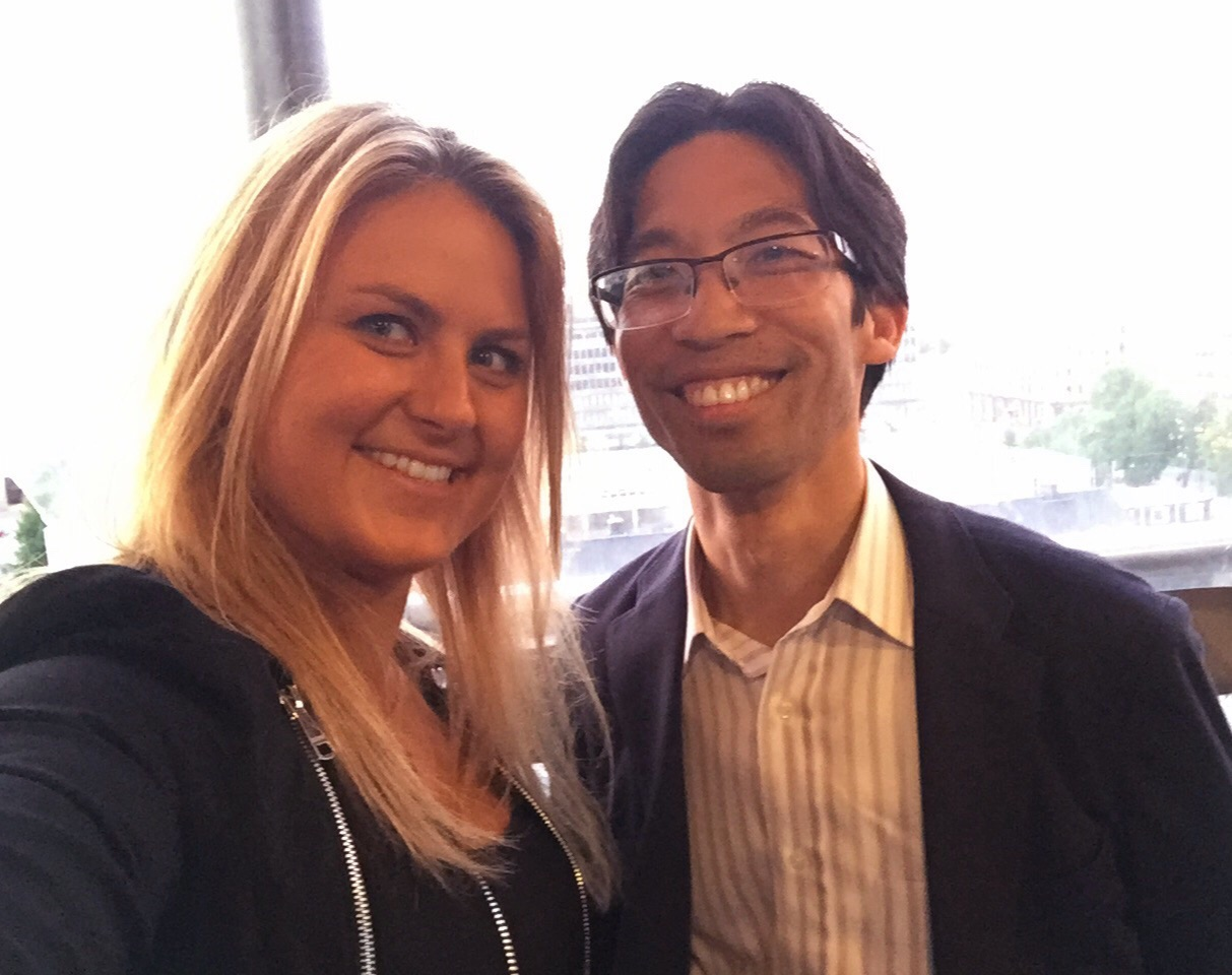 Sharing stories from the road with knowledgeable Marvin Liao from the accelerator, 500 in Helsinki