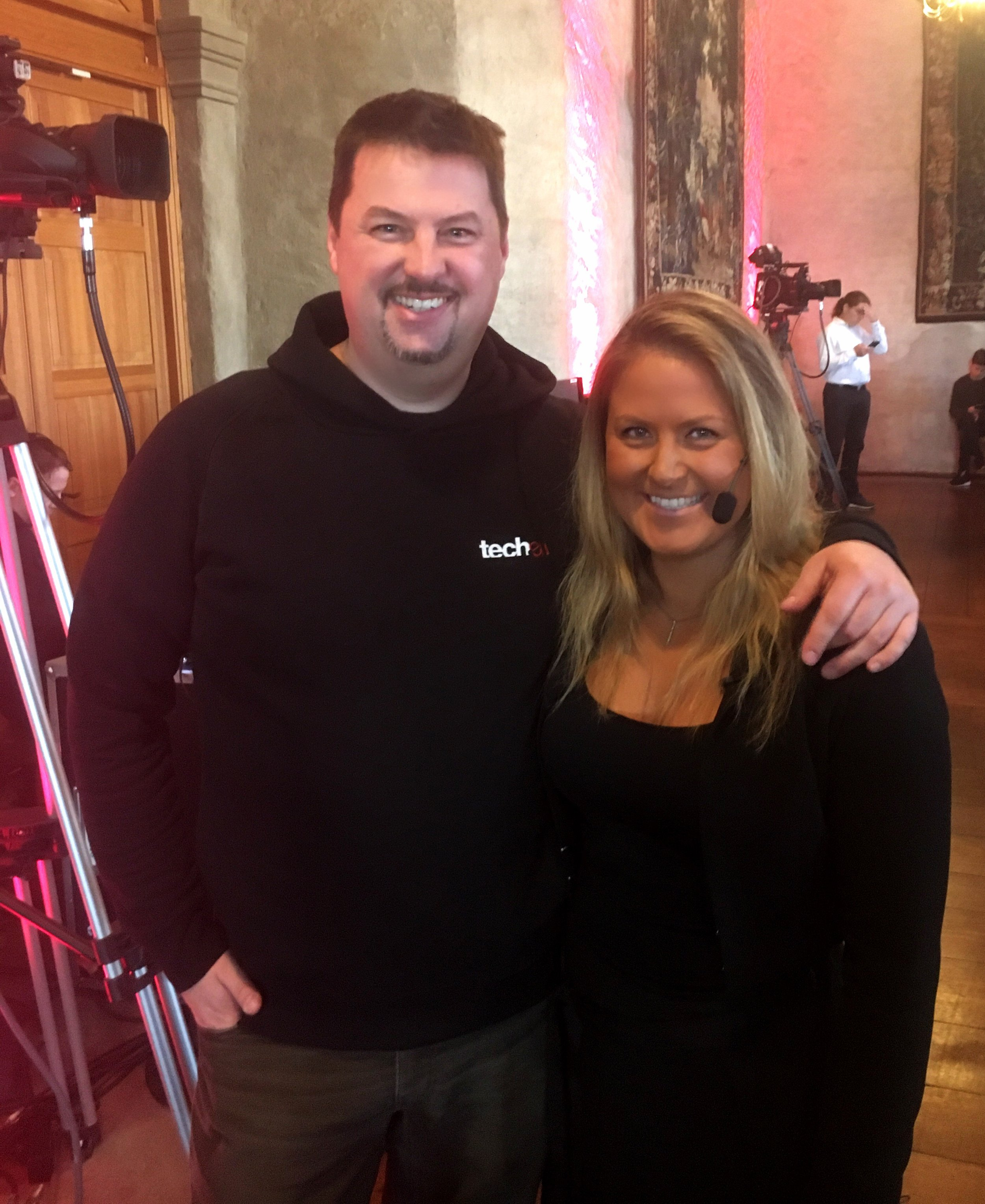 Catching up with the fantastic Robin Wauters from tech.eu before delivering a keynote at Uppstart in the Uppsala castle.
