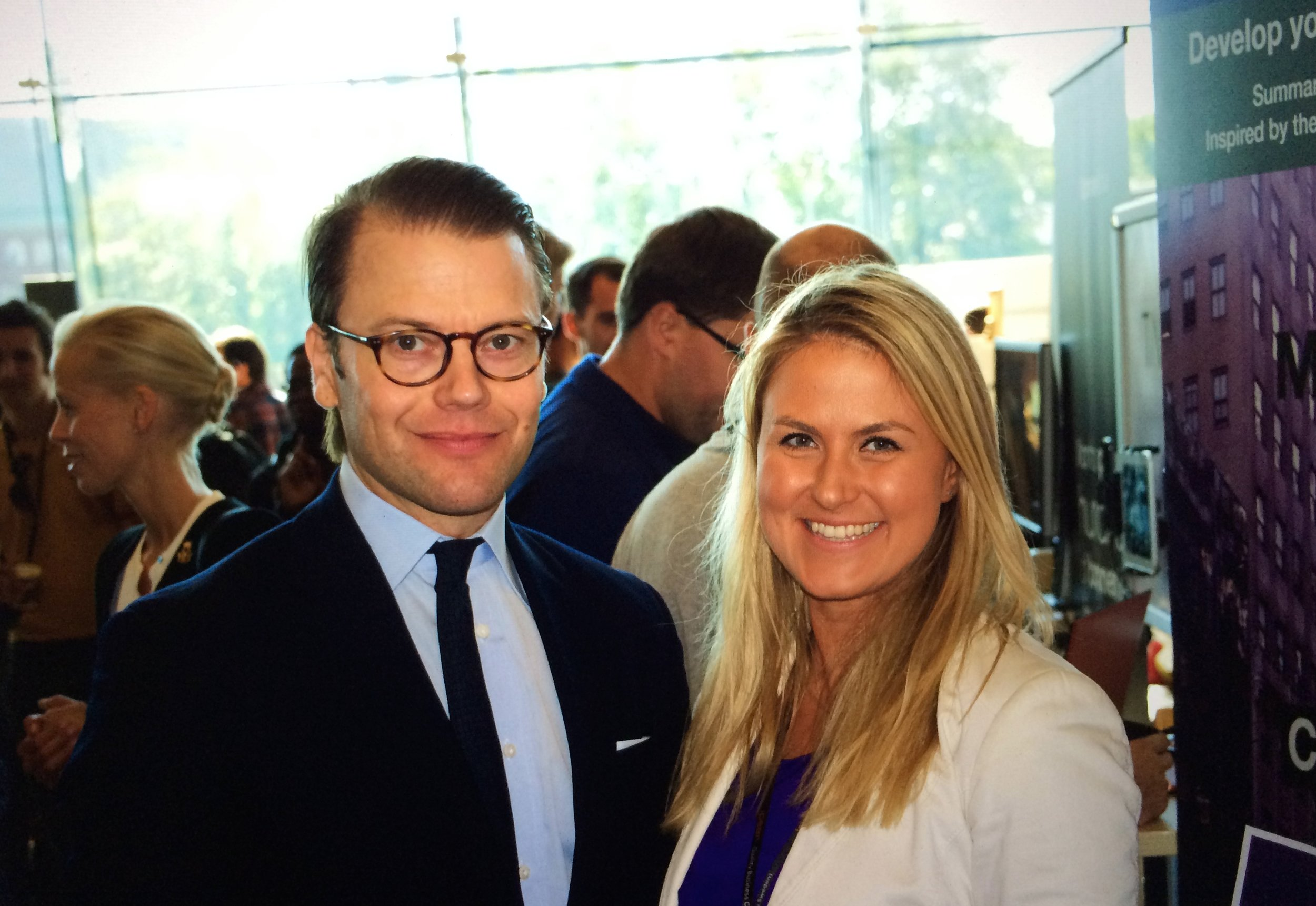 Honored to speak to Prince Daniel of Sweden about the future of entrepreneurship.