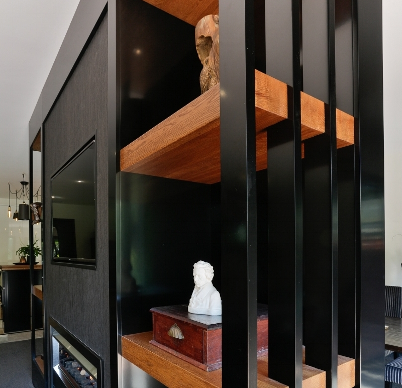 Interior JOINERY - Interior Joinery is an extension of the kitchen or bathroom.Extending joiner into other spaces of your home.Creating divisions between spaces or walls of joinery for books.Creating a picture that reflects you and your family that goes beyond the kitchen or bathroom spaces.Having a wonderful flow right throughout.A space that reflects your personality - it's like the smell of your favourite perfume all around the house - it defines you!Sandy loves to sit down and find out who you are and then reflect that throughout. Creating different spaces for different uses and members of the family but that all flow together.