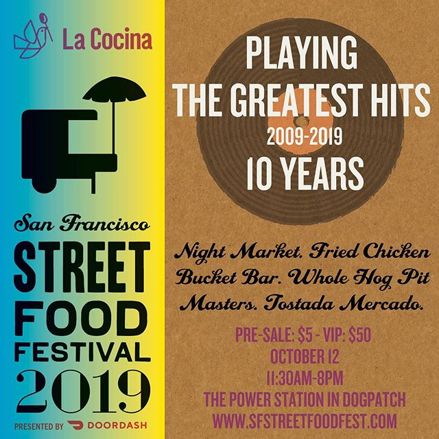 Join us at the San Francisco Street Food Festival @streetfoodsf on Saturday, October 12th at The Power Station. We'll be selling our signature sweet snack, Obleas.  @lacocinasf is a groundbreaking nonprofit kitchen incubator dedicated to supporting talented, working-class food entrepreneurs -- primarily immigrants and women of color, in building successful food businesses. Join us for a day with the Bay Area's top tastemakers. Enjoy mouth-watering food, drinks, live entertainment, and support an event that promotes equity in the food industry. Buy your $5 pre-sale tickets before they sell out! sfstreetfoodfest.com  @lacocinasf, @sfstreetfood  #LaCocinaSF #SFStreetFoodFest #LaCocinaGreatestHits #LaCocinaStreetFoodFest #FoodFestivalSF #FoodFestival #BayAreaFood
