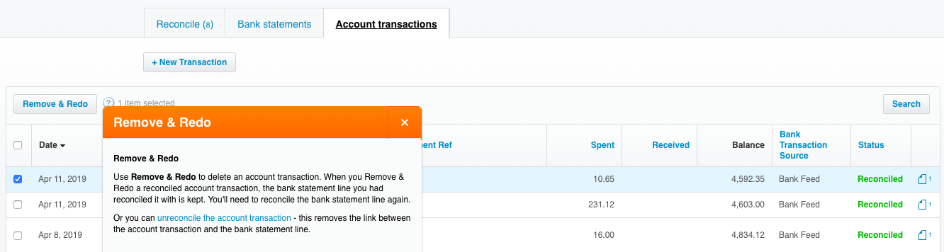 Xero bank reconciliation mess up remove and redo - stacy kessler