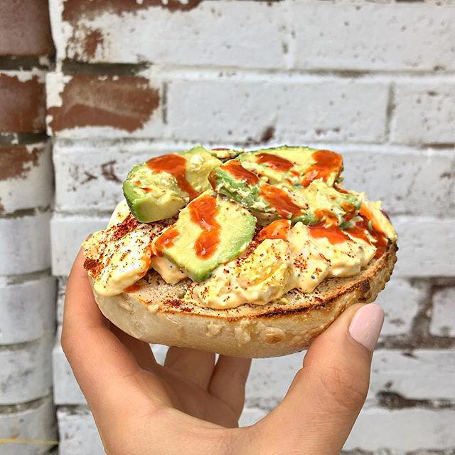 Our friend came in and got the Deviled Egg Salad with 🥑avocado (and hot sauce)🔥 instead of bacon. Now it's a new favorite! Classic or 🥑🔥? . . . #bostonfoodies #bostonfoodie #eastcoastfoodies #breakfasttime #coffeeshop #bagelshop #foodstagram #foodie #bagelsandwich #dogsofinstagram #dogstagram #dogfriendlypatio #foodphotography #foodphoto #bageldog #glutenfreebagel #glutenfreeeats #lox #loxandcreamcheese #avocadotoast #bestfoodboston #bostonfood #dailyfoodfeed #collegefoodie #collegeeats #harvard #harvardsquare #harvardyard