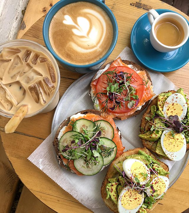 Our original #bageltoasts and espresso drinks! The favorite Lox 2.0 and Avocado Toast (upgraded with an egg 🥑🥚!) complimented by our full espresso bar ☕️ . . . #bostonfoodies #bostonfoodie #eastcoastfoodies #breakfasttime #coffeeshop #bagelshop #foodstagram #foodie #bagelsandwich #dogsofinstagram #dogstagram #dogfriendlypatio #foodphotography #foodphoto #bageldog #glutenfreebagel #glutenfreeeats #lox #loxandcreamcheese #avocadotoast #bestfoodboston #bostonfood #dailyfoodfeed #collegefoodie #collegeeats #harvard #harvardsquare #harvardyard