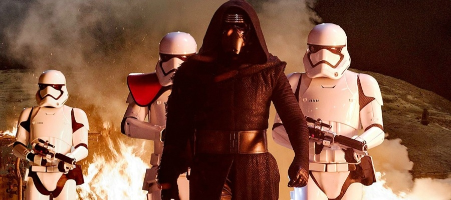 The helmeted First Order enforcer Kylo Ren (Adam Driver) may seem like a Vader knock-off, but he represents the most interesting, significant new ground this new trilogy will be exploring if this first appearance is any indication.