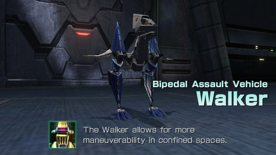 The Walker, one of two new vehicle types introduced in  Star Fox Zero , makes its full-on series debut after being shelved in the unreleased  Star Fox 2  from the Super Nintendo. Generally, playing in the Walker is fun when you're using it to crawl through the bowels of an enemy ship or base so that you can blow it up from the inside.