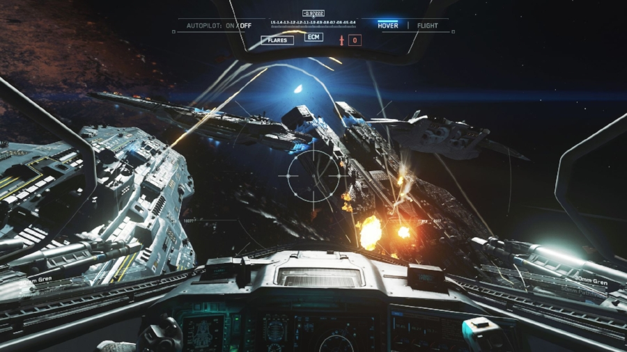 A very pleasant surprise found in the single player campaign are the few missions where you get into a space fighter, and dogfight with SDF forces. It helps to break up the relative monotony of the typical levels, with the gloss and ease of control that comes with all the gloss you'd expect from a big budget sci-fi movie. The ease of the controls, thankfully, matches the high-fidelity visuals.