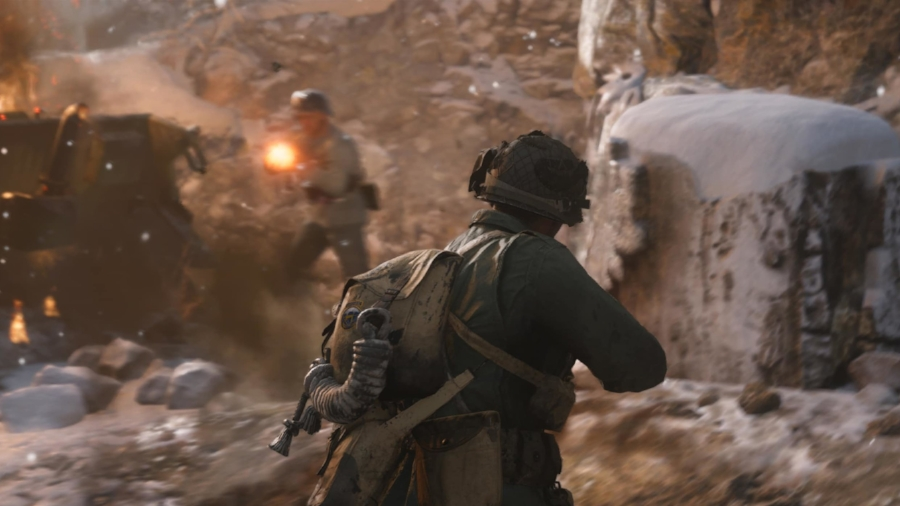 """""""War Mode"""" is  Call of Duty: WWII 's biggest new offering. While it's not the most creative moniker, there's really no other word that can better describe the team-based objective-driven online PvP combat."""