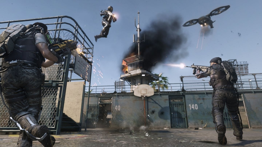 Similarly to  Titanfall  before it,  Advanced Warfare 's online multiplayer modes emphasize speed and verticality, but requires a very fast reaction time with a lot of environmental awareness.