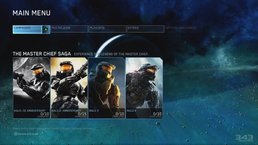 A look at the unified menu, where you can access all four campaigns, in addition to the insane amount of multiplayer options.