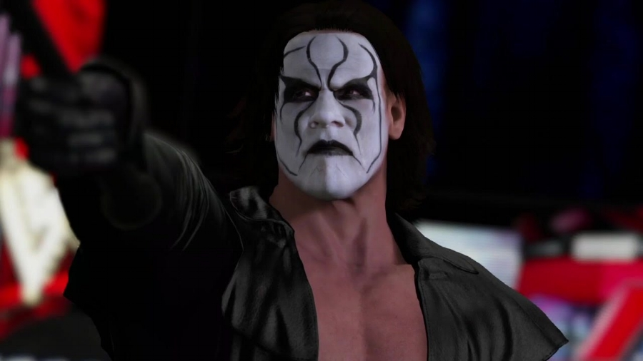 It  is  pretty awesome seeing Sting in a WWE video game, his first major affiliation with the organization ever.