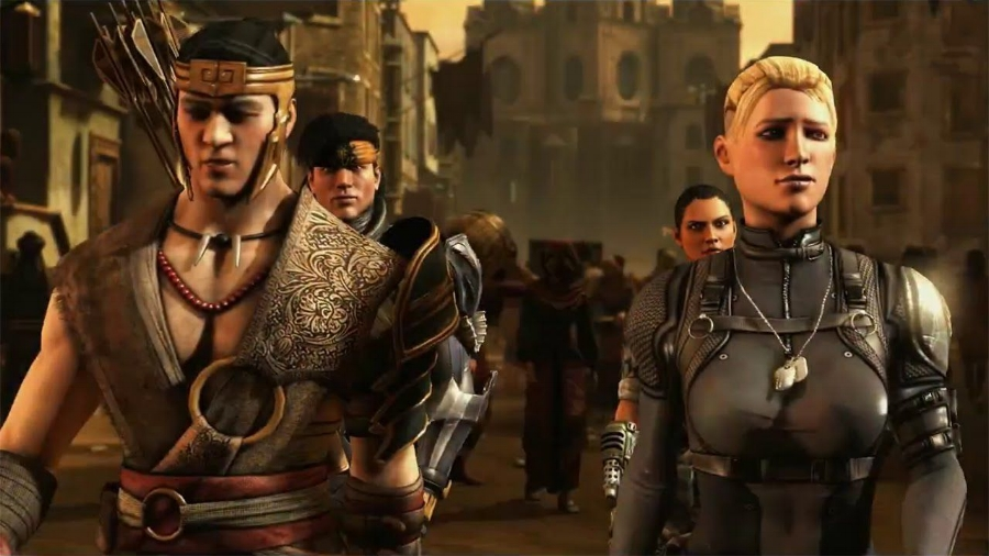 The story mode for  Mortal Kombat X  mostly takes place 25 years after the events of the last game, introducing a new generation of fighters descended from old favorites.
