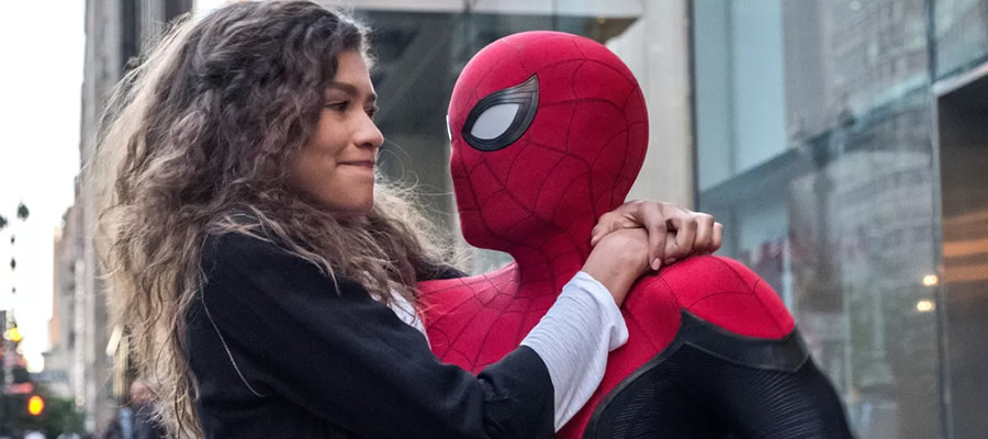 """Some of the film's funniest and most heartfelt moments come from the budding relationship between Peter and Michelle """"MJ"""" Jones (played by Zendaya)."""