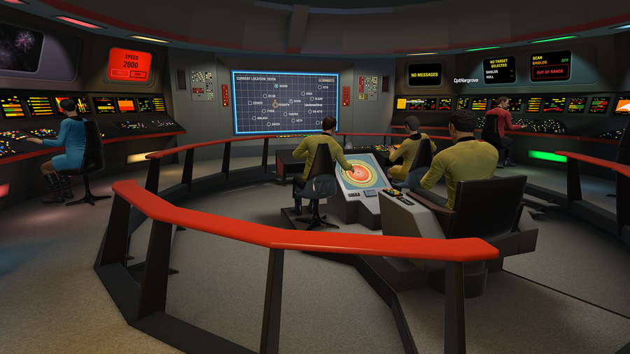 The developers at Red Storm Entertainment successfully — and painstakingly — created a virtual facsimile of the original USS  Enterprise  bridge, allowing  Trek  fans to virtually occupy seats that we've all dreamed of sitting in…including the big one in the middle.