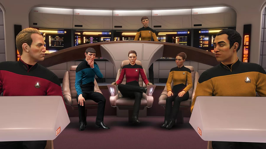 Recreated in similarly painstaking fashion is the bridge of the USS  Enterprise -D from  Star Trek: The Next Generation  in a new paid DLC pack, expanding the representation of  Star Trek  eras in the game to three.