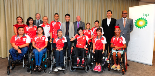 Team SG Paralympic send-off event at BP offices (2016).