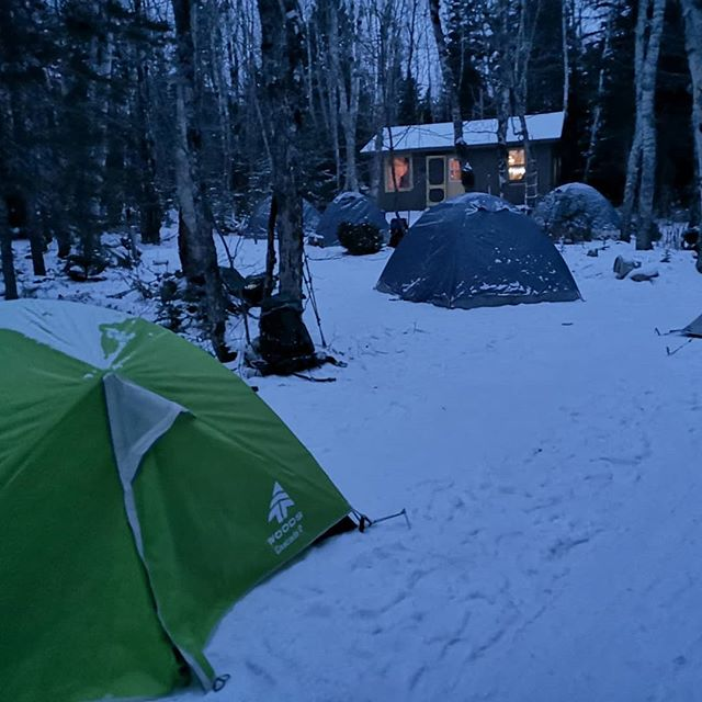 Weekend winter campout with a bunch of kiddos in preparation for #Kilimanjaro!