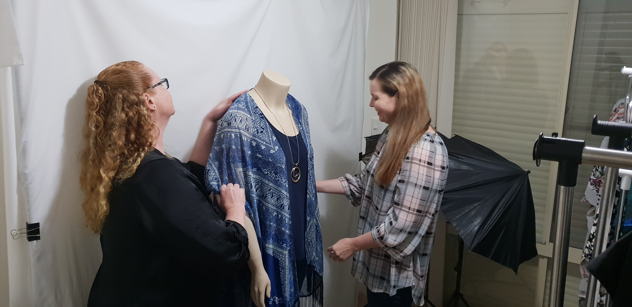 Sisters Sandra and Fiona McArthur of  Sisterly Curves  at work in the studio