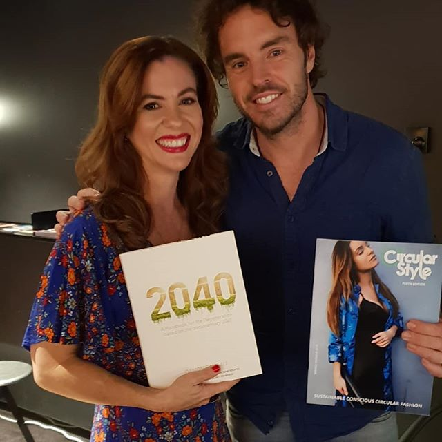 Honoured tonight to have sat beside this brilliant human @damon.gameau following a screening of his new documentary @2040film being released May 23rd. Thank you to everyone who came along, Damon, Anthony, Adriana, @anarchy_pr and @madmanent for including me on your Q&A panel to discuss where fashion sits in this important conversation. . . . . . . . . #circularstyle #circularstylemag #circularfashion #circulareconomy #perthmedia #perthfashion #perthstyle #perthlocal #perthblogger #perthfashionblogger #ethicalfashion #sustainablefashion #slowfashion #ecofashion #secondhandfashion #recycledfashion #fashionmagazine #perthmodels #perthbeauty #perthlifestyle #perthmagazine #perthcreatives #perthart #perthphotographer #perthigers