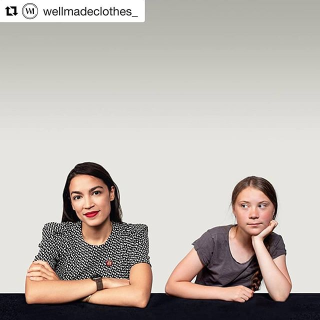 "#Repost @wellmadeclothes_ with @get_repost ・・・ Greta Thunberg And Alexandria Ocasio-Cortez Discuss Climate Change . Greta Thunberg and Alexandria Ocasio-Cortez may be from opposite sides of the Atlantic, but both young women are at the forefront of the global conversation on climate change. Which is why The Guardian recently published a conversation between the two women. Throughout this interview, the Swedish schoolgirl and America's youngest-ever congresswoman discuss the importance of activism and taking urgent action when it comes to the environment. . Thunberg and Ocasio-Cortez discuss climate denialism and the critical role of youth in driving positive change. ""The school-striking children, when I see them – that is very hopeful,"" Thunberg says. ""And also the fact that people are very unaware of the climate crisis. I mean, people aren't continuing like this and not doing anything because they are evil, or because they don't want to. I think that is very hopeful, because once we know, once we realise, then we change, then we act."" . Ocasio-Cortez agrees that ""people don't know when those small actions can manifest into something. ""I think sometimes we're so obsessed with measurement. What does me standing outside of parliament with a sign do? It doesn't lower any carbon emissions immediately. It doesn't change any laws directly. But what it does is make powerful people feel something, and people underestimate the power of that."" . These are obviously very complex issues – which the congresswoman acknowledges when she says: ""Leadership is a responsibility. Leadership is not fun."" But when asked what her best piece of advice is for enacting positive change, Thunberg says simply: ""Act. Do something. Because that is the best medicine against sadness and depression."" And we couldn't agree more. . By @rosie_dalton. Image: the Guardian."