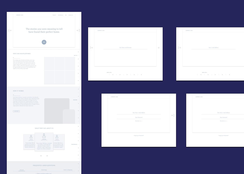 Presentation website UX.