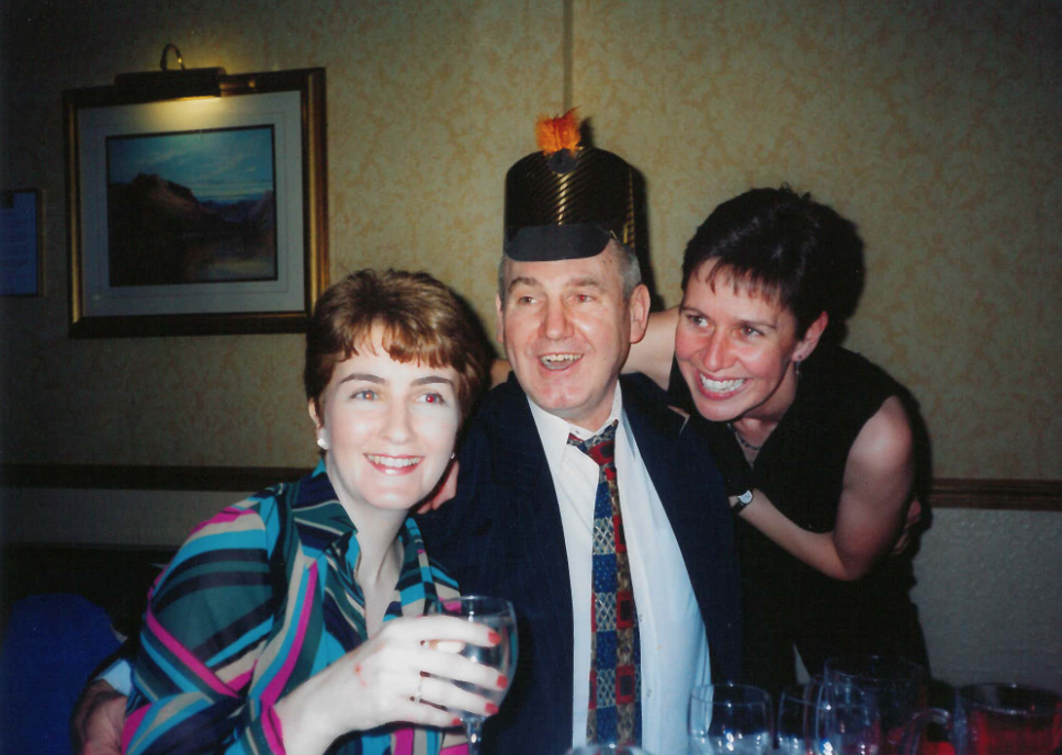 Mollycoddling the Feckless Luath Press Alistair Findlay at a party.png
