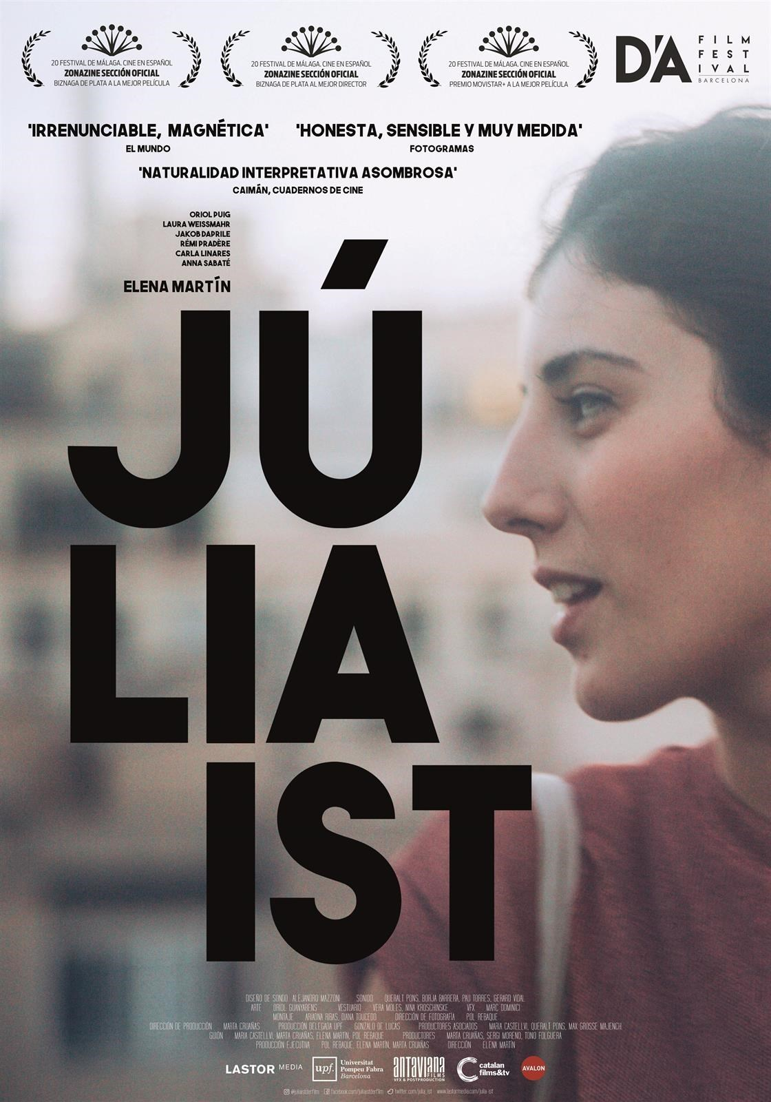 Júlia Ist - Pompeu Fabra University Thesis Film Project supported by Universität der Künste Berlin, Fundación SGAE and mentored by Mar Coll, Javier Rebollo, Elías Seminiani, Isaki Lacuesta and Gonzalo de Lucas. Filmed between Berlin and Barcelona, tells the story of Julia, a 21-year-old architecture student from Barcelona. Until she travels to Berlin for an Erasmus exchange, the future seemed to be clear for her. There she realizes that she doesn't know herself as well as she thought and also that she just doesn't know what she wants anymore. In the middle of this loneliness, she will have to face the challenge of setting up a life and fighting against the feeling of emptiness, in a completely new environment, in a city full of people, under the shine of another sun.