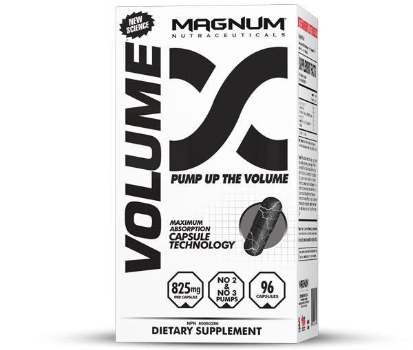 Magnum Volume - Magnum Volume maximizes nitric oxide production for increased oxygen and blood flow. It also reduces your bodies ability to diminish nitric oxide once its been produced for a product that lasts longer than anything you've tried before.• Unbelievable muscle pumps• Enhanced blood flow and oxygen transport to muscle• Increased anaerobic and aerobic capacity• Improved brain blood flow and cognitive function