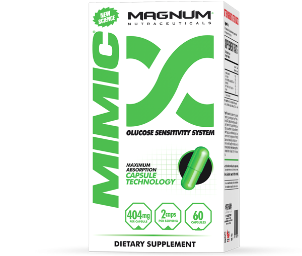 Magnum Mimic - Magnum Mimic was formulated to increase insulin sensitivity for all healthy individuals. So whether you're trying to build muscle, burn fat, or both, you need every calorie you ingest to be optimized. You want carbohydrates to supply energy and great pumps, and proteins and healthy fats to build muscle and burn fat!
