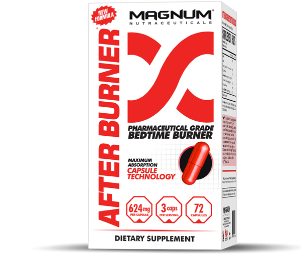 Magnum After Burner - Magnum After Burner is the most effective nighttime fat burner available. Long after your day is over and you are asleep in bed, After Burner allows you to continue using fat as energy by:• Increasing fat loss while you sleep• Decreasing fat storage• Reducing food cravings and hunger• Increasing thermogenesis without stimulants