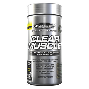 MuscleTech Clear Muscle - Clear Muscle™ is a novel, never-before-produced supplement that supplies the revolutionary musclebuilding compound called BetaTOR®, which is a unique, cutting-edge free-acid derivative of HMB and metabolite of leucine. This compound unlocks the true potential for unprecedented bioavailability, effectiveness, and results. The Clear Muscle formula is the first to contain BetaTOR®, and is only available from MuscleTech® in a clear liquid pill.• Massive gains in lean muscle• Improved 1 rep max strength• Ultra-concentrated anabolic power
