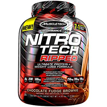 MuscleTech Nitro Tech Ripped - Available in: Chocolate, Vanilla• Superior whey protein peptides for lean musclebuilding• Enhanced with a scientifically tested weight management ingredient• Advanced formula featuring L-carnitine & CLAMuscleTech designed this one-of-a-kind formula to deliver ultra-pure protein plus real weight management results – it's unlike anything you've seen before. Unlike the competition, every scoop of NITRO-TECH RIPPED delivers a scientifically studied dose of its key weight management ingredient, C. canephora robusta, that is backed by two human studies for results you can trust!