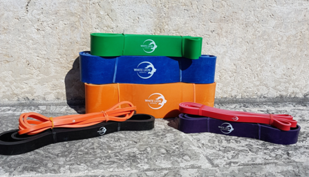 White Lion Resistance Bands - Resistance bands are heavy elastics that can be used to improve power, strength, speed and mobility. There really is no limit to how you can use Resistance Bands. Available in a wide range of tensions.