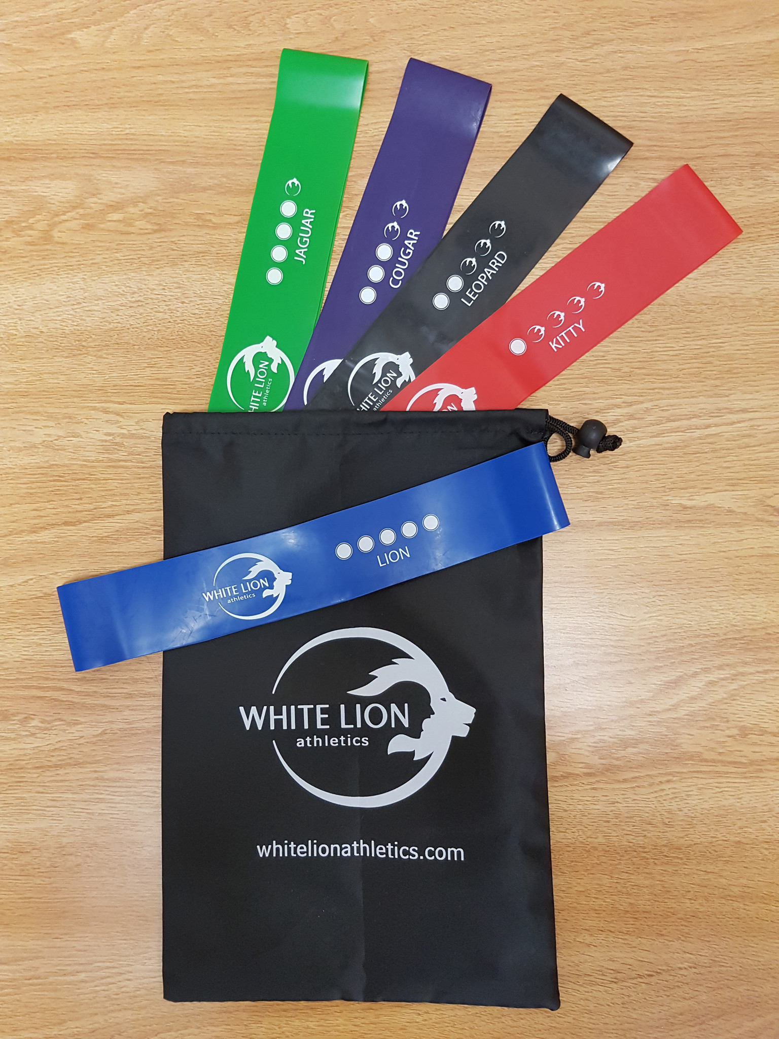White Lion Mini Band 5 Pack - Every training program can benefit from the versatility of Mini Bands. This 5 Pack comes with five progressive resistances, perfect for developing your strength, endurance, stability and power. Ranging from 6 - 35 pounds of resistance.