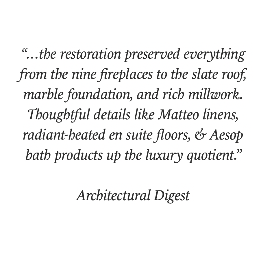 Click Here for Architectural Digest article