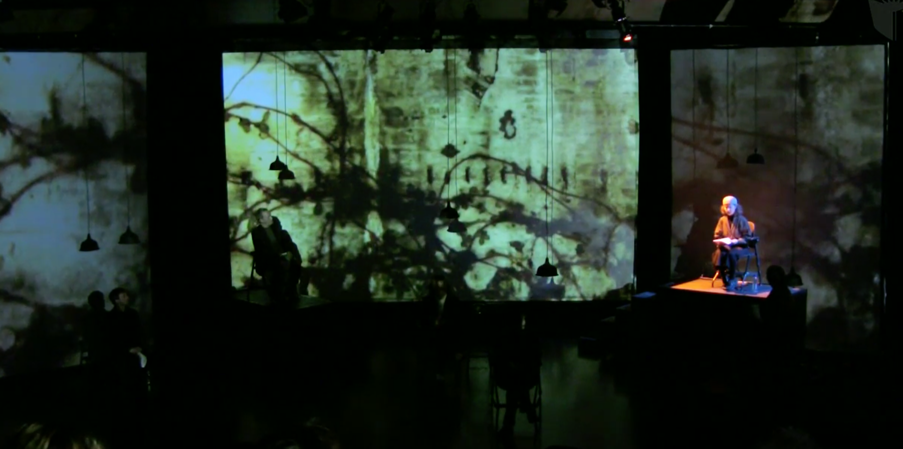 A River of Poetry (une pluie de mots, de langues, de silences) - multimedia poetry, staged by Michael Montanaro,produced by Ollivier Dyens