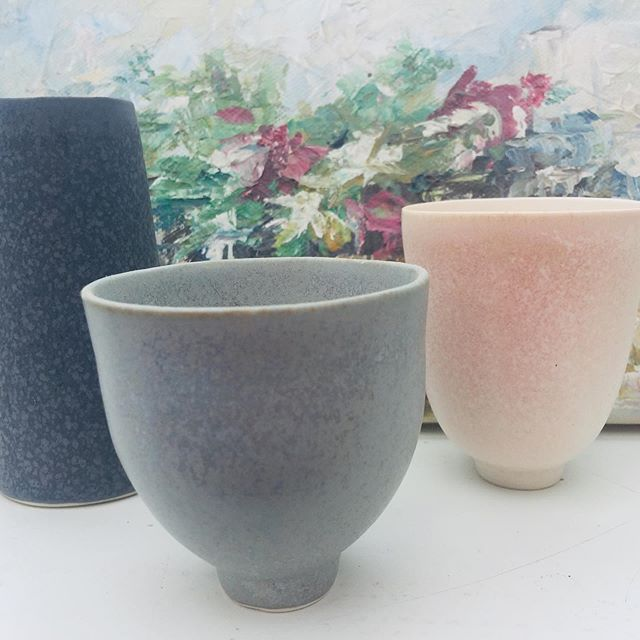 Enjoying my wonderful pots by the lovely ceramicist #robyn.hardyman