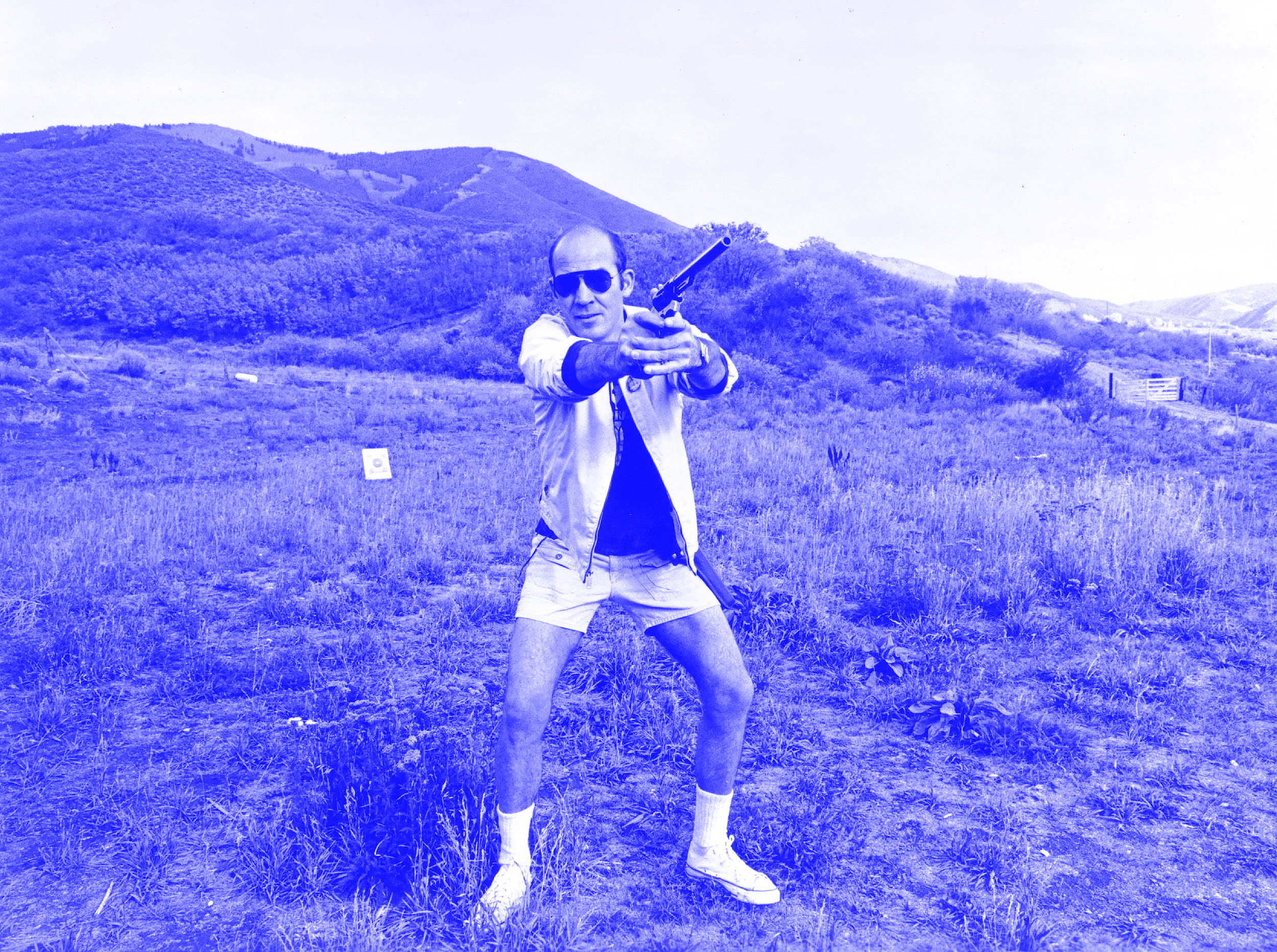 Hunter S. Thompson immersing himself in creative non-fiction.
