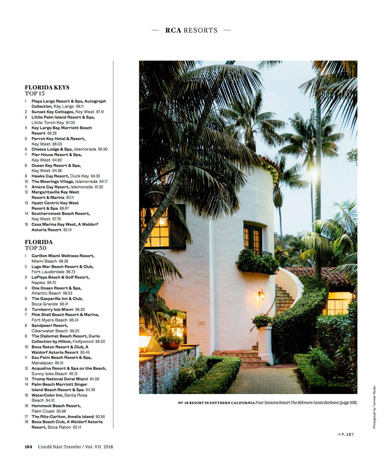"Condé Nast Traveler (US) - ""Best in the World"""