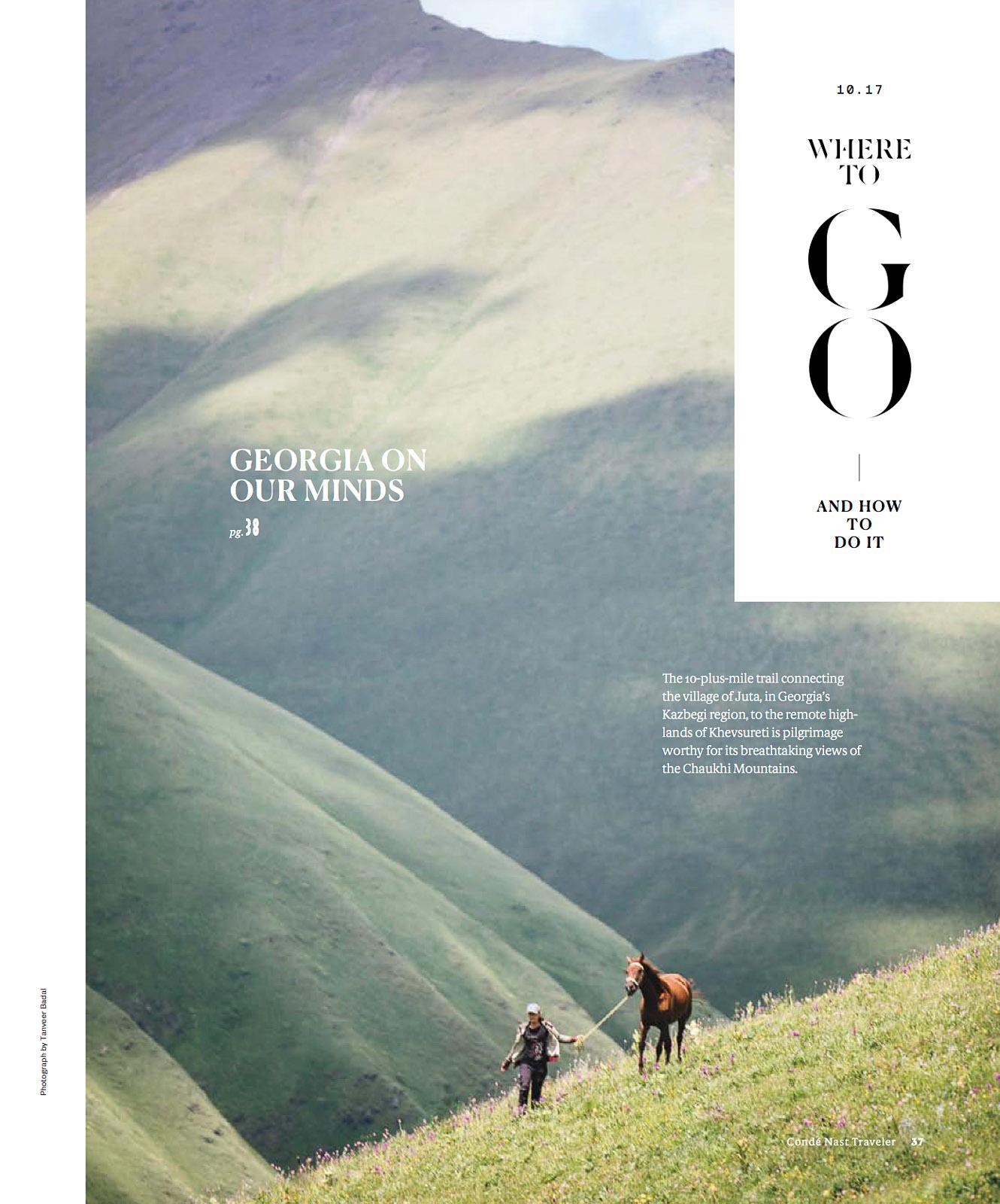 "Condé Nast Traveler (US) - ""Georgia on Our Minds"""